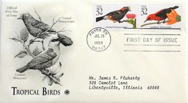 July 29, 1998 First Day of Issue, PC Society Covers, Birds-Honeycreeper/... - $3.14