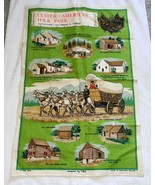 VINTAGE ULSTER AMERICAN FOLK PARK CASTLETOWN PURE LINEN  KITCHEN TOWEL T... - $14.80