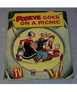 Child's Wonder Book Popeye Goes on a Picnic - $6.95
