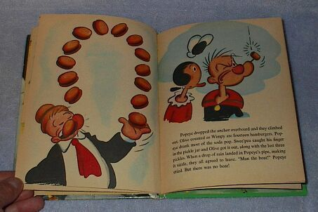 Child's Wonder Book Popeye Goes on a Picnic