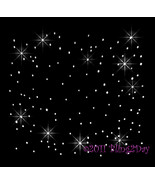"Bling Sheet 12"" X 12"" - CLEAR - Random Scattered - Iron on Rhinestone Tr... - $4.99"