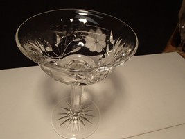 VINTAGE BRILLIANT CUT CRYSTAL LARGE COMPOTE~~PERIOD~~what a beauty~~ - $29.95