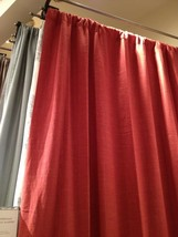 Pottery Barn Peyton Drape Ember 50x108L Curtain Cardinal Red Just One - $27.73
