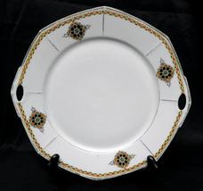 "Vintage WEIMAR Porcelain Plate GERMANY Pierced Handles 10"" 1848 - 1933 - $15.00"