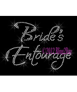 Bride's Entourage - Iron on Rhinestone Transfer Bling Hot Fix Bridal Bri... - $6.99