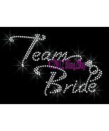 Team Bride with Diamond Ring - Iron on Rhinestone Transfer Bling Hot Fix... - $6.99