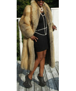 Designer Full length Golden RED Fox Fur Coat Jacket Stroller S 2-8 - $1,583.99