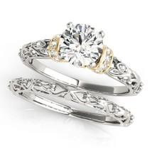 Womens Wedding Bridal Diamond Ring Set Two Tone Finish 925 Sterling Solid Silver - $94.99