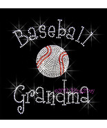 Baseball Grandma - C - Iron on Rhinestone Transfer Bling Hot Fix Sports ... - $8.99