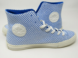 Converse Womens Leather Hi Top Chuck Taylor All Star Ocean Scaled Blue W... - £28.98 GBP