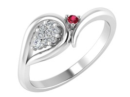 Certified Real Diamond 14k White Gold Natural Ruby Eternity Ring Jewelry - $514.80
