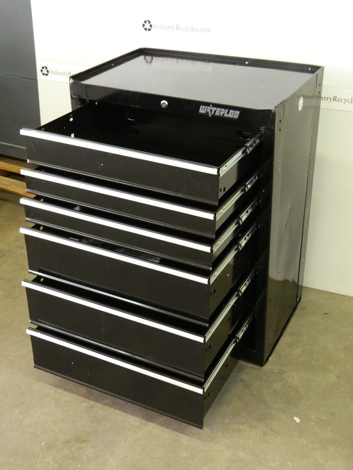 Waterloo wca 266bk roller cabinet tool box 6 drawer w for Sideboard roller