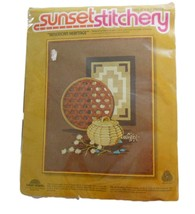 American Heritage Sunset Stitchery Wool Embroidery Kit 2287 Nancy Overton - $14.85