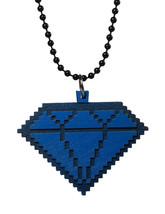 Good Wood New York Blau 8 Bit Holz Diamant Anhänger Kugel Halskette Nwt