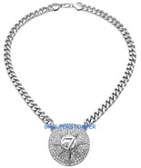 5 Percenter 7 Étoile Neuf Pendentif avec Cristal Rhinestones18 cm Cubain... - $30.02