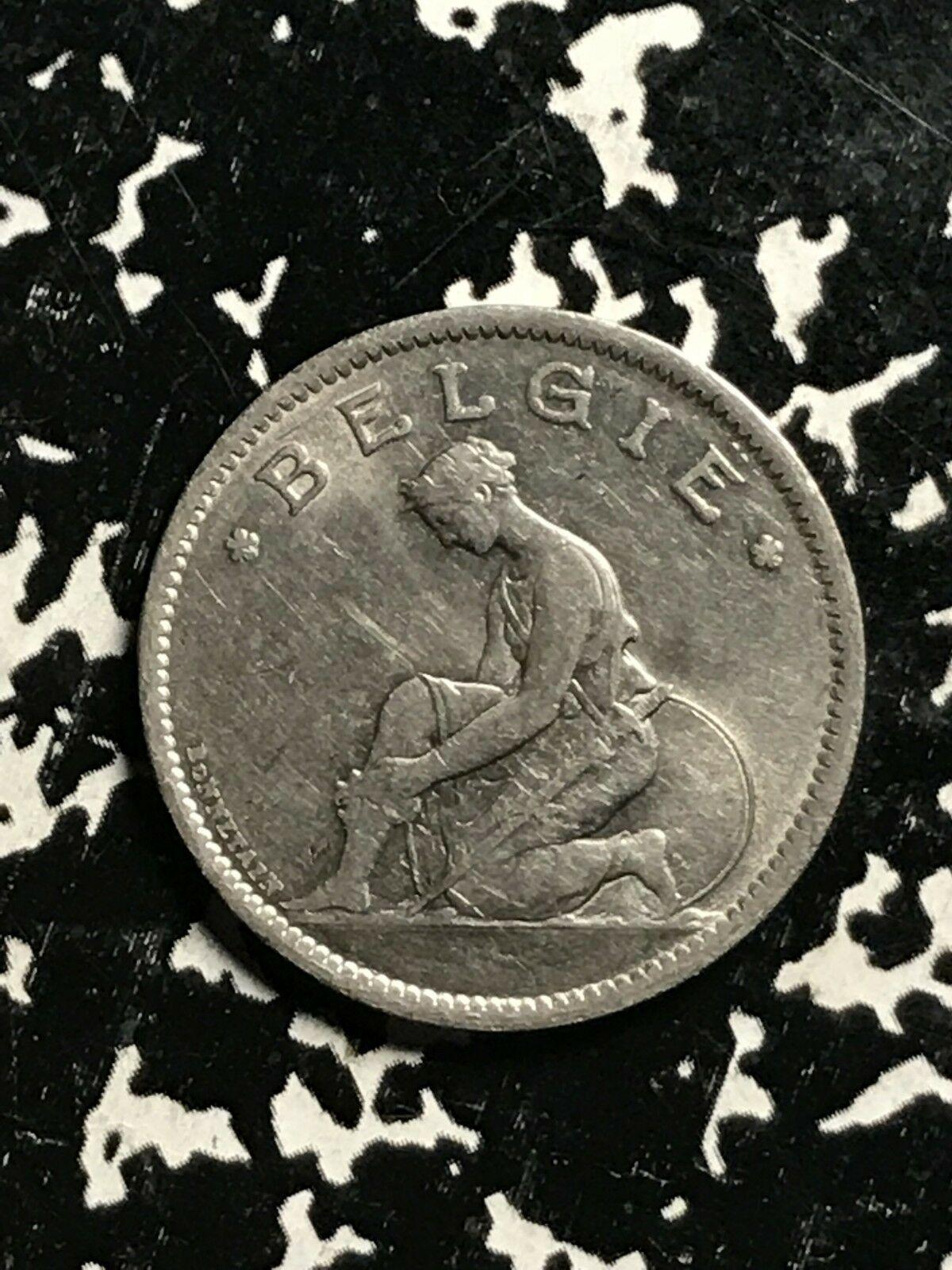 1934 Belgio 1 Franco Lotto #X8627 Grado Elevato! Bellissimo