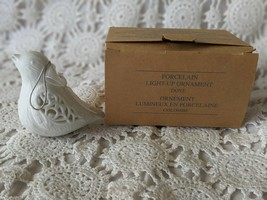 Avon Porcelain Light-Up Dove Christmas Tree Ornament - $9.69