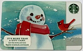 Starbucks 2014 $0 Value Gift Card Snowman Christmas 99 Series New - $6.99