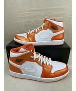 NEW Nike Air Jordan 1 Mid SE Metallic Electric Orange Mens DM3531-800 SI... - $178.17