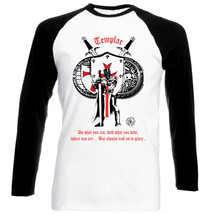 Knight Templar Lead Us To Glory 8 - New Cotton Black Sleeved TSHIRT- All Sizes - $27.47