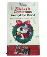 Vintage 1991 Disney Mickey's Christmas Around the World Pop-Up Book & Tape - $29.69
