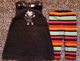 Girl's Size 18-24 M Months 2 Pc Gymboree Brown Corduroy Monkey Dress & L... - $28.00