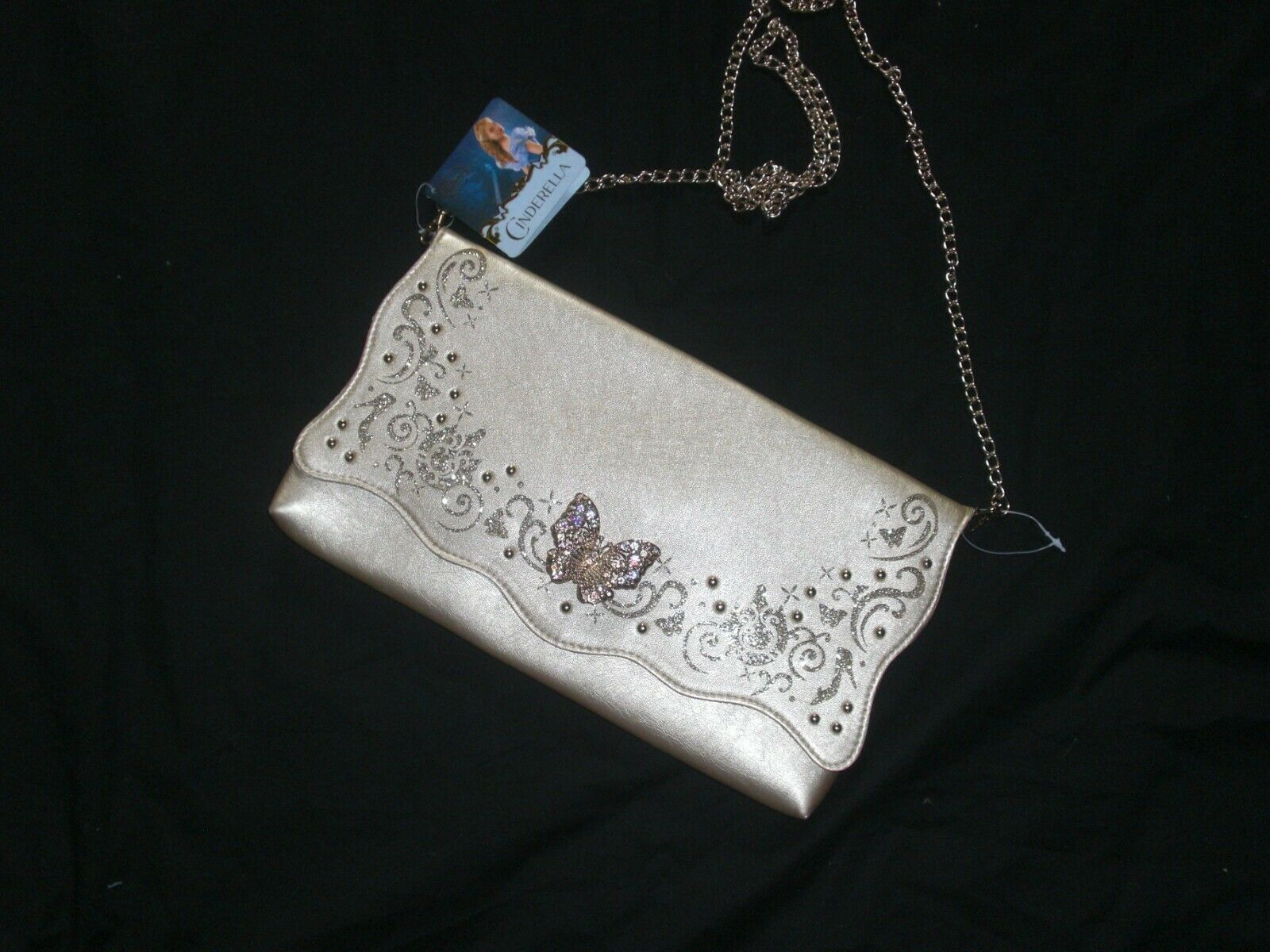 Disney Store Cinderella Adult Gold Faux Leather Clutch/Shoulder Purse New W/T - $45.99