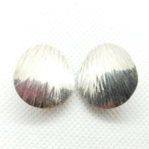 Pearce Mid-Century Sterling Silver 925 Textured Clip On Earrings FREE Shipping - $24.99