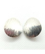 Pearce Mid-Century Sterling Silver 925 Textured Clip On Earrings FREE Sh... - $24.99