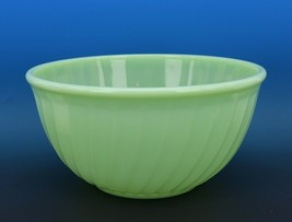 "Vintage Fire King Jadeite Swirl 9"" Mixing Bowl Good Condition"