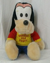 "Vintage DISNEY PLUSH  HOORAY FOR GOOFY 10"" - $17.81"