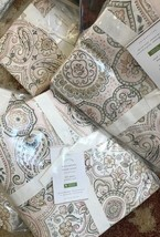 Pottery Barn Anya Duvet Cover Blush King 2 King Shams Paisley Medallion $258 - $184.00