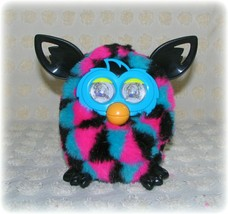 Furby Boom Hasbro 2013 Interactive Black Pink Blue Triangle Retired Works - $43.69