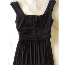 MAGGY London sleeveless black draped dress Sz 8 Party cocktail mid Length  - $19.99