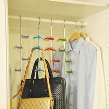 Handbag Hanger Shelf Organizer Bag Storage 4 Hooks Wardrobe Holder Hangi... - $12.64