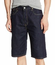 New Levi's Men's Premium Cotton Loose Straight Denim Shorts Dark Blue 569-0143