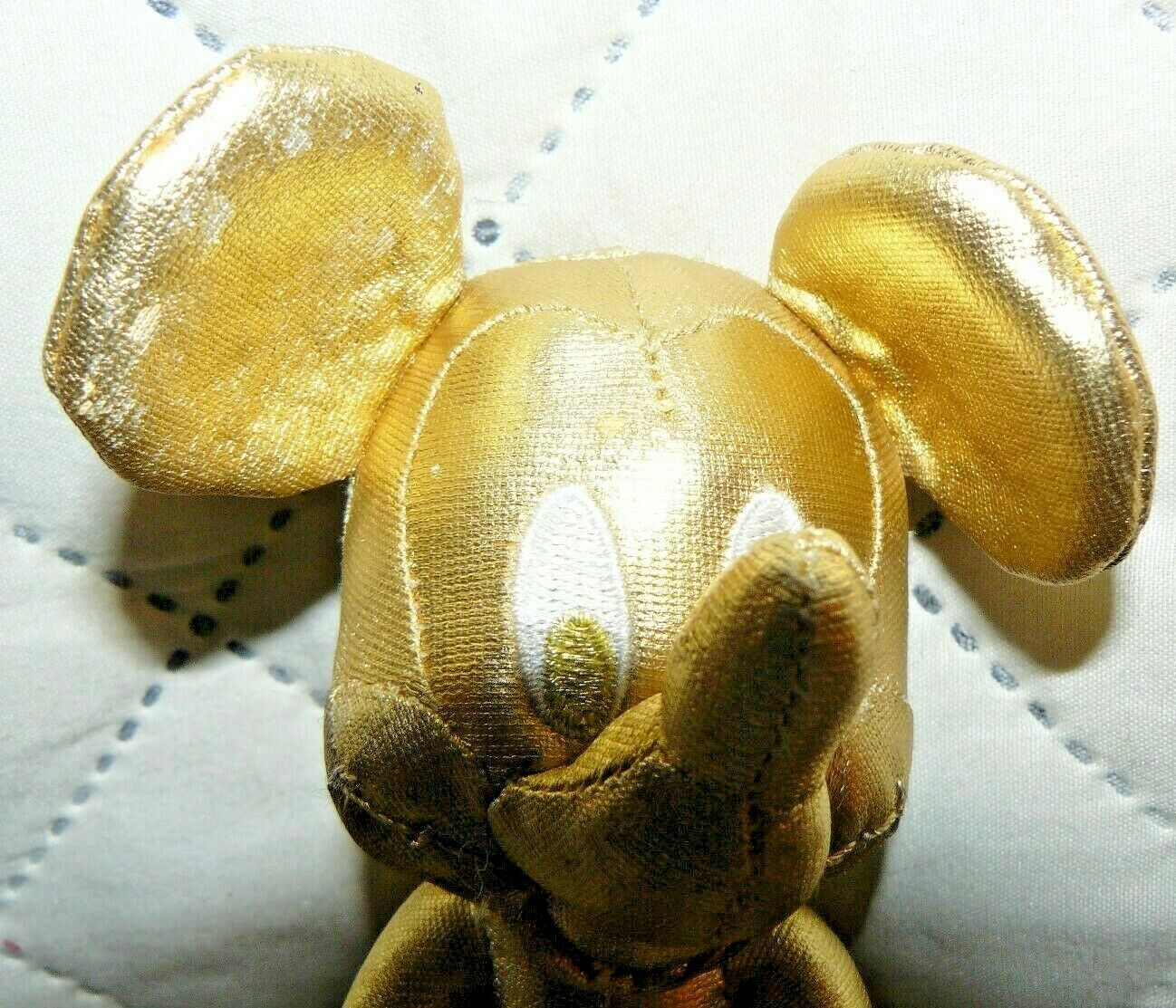 """Disney Store Mickey Mouse Plush 7"""" Gold Collection 90th Birthday image 2"""