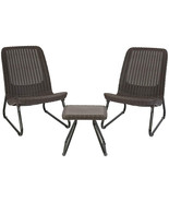 3 Pc All Weather Outdoor Patio Garden Conversation Chair and Table Set F... - $145.95