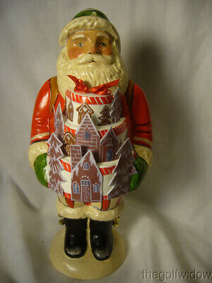 Vaillancourt Folk Art Gingerbread Cake Santa Signed by Judi Vaillancourt