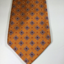 Robert Talbott Nordstrom Best of Class Silk Tie Orange Lavendar Diamond ... - $29.00