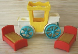 FPLP Fisher Price Little People Play Family Castle Carriage Prince Princess Beds - $24.75