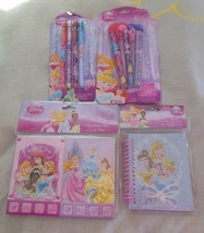 Disney Princess Clip Pens W/Rope Pop-up Pencils, Journal, Memo Pads & Ca... - $21.98