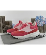 Alexander McQueen Oversized Pink Red Suede Lambskin Leather Sneakers 36 ... - $390.56
