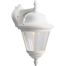 Progress Lighting P5863-30 1-Light Cast Wall Lantern with Clear Seeded Glass, Wh - $148.67
