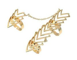Fashion Personality Bracelet Jewelry Finger Rings And Chains, Fish Bone