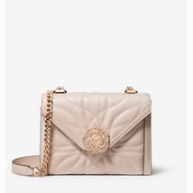 NWT Whitney Small Petal Quilted Leather Convertible Shoulder Bag Soft Pink - $232.00