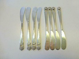 8 ETERNALLY YOURS 1847 Rogers Bros SilverPlate Flat Butter Spreader Knif... - $39.59
