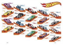 USPS Hot Wheels Sheet of 20 Forever Stamps. MNH. - $12.99