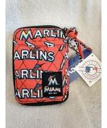 NEW Miami Marlins Fabric Wristlet Wallet ID Holder, Phone Holder, Zipper... - $15.10