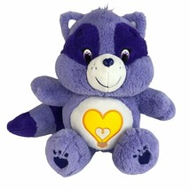 """Care Bears Cousin Bright Heart Raccoon 8"""" Plush Purple Toy Cleveland Cha... - $19.75"""
